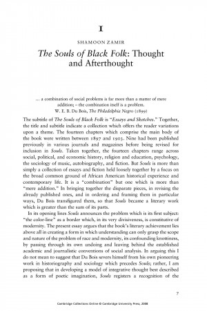 souls of white folk essay Abstract this article utilizes web du bois's often-overlooked classic essay the  souls of white folk to develop a long overdue dialogue.