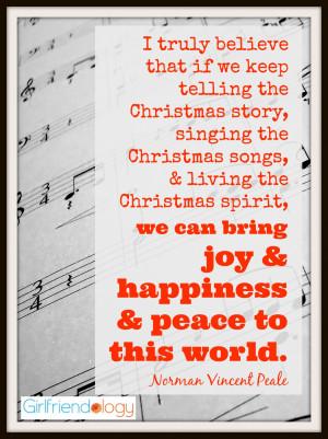 Christmas story, singing the Christmas songs, & living the Christmas ...