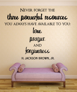 Jackson Brown Never forget...Christian Wall Decal Quotes