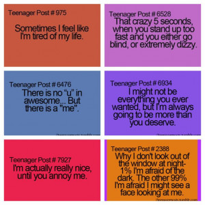 All of these are true for me except for the two in the middle