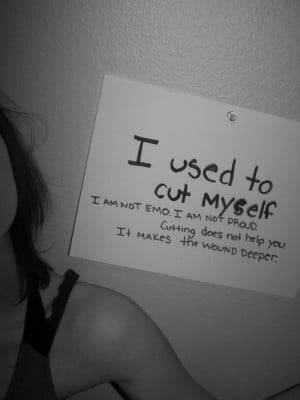 Quotes About Cutting Yourself...