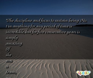 The discipline and focus to sustain being