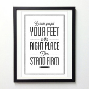 Abraham Lincoln Motivational Quote Print, Stand Firm, Black and White ...