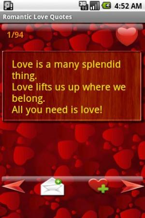 Romantic Love Quotes - screenshot