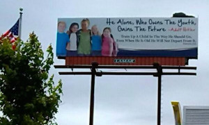 Christian ministry quotes Adolf Hitler on billboard, surprised by the ...
