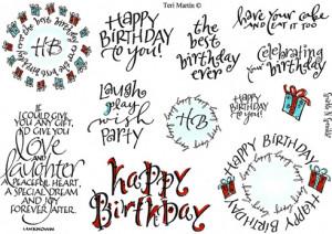 Stamp Set 416 - Happy Birthday
