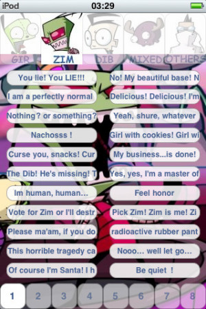 ... Gir invader Zim Dib Gaz 880+ sounds and quotes pro iPhone iPad iOS