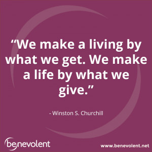 quotes giveback giving Benevolent BeBenevolent