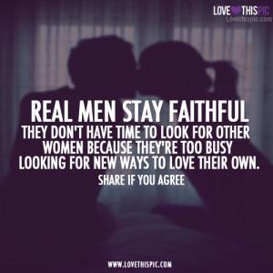 Real Men Stay Faithful