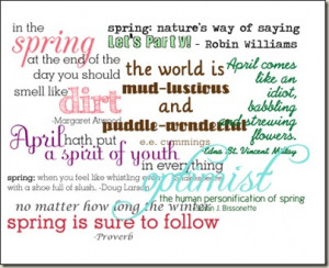 Spring quotes for scrapbooking