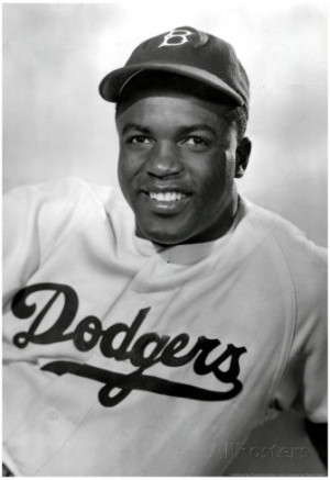Jackie Robinson Smiling Archival Photo Sports Poster Poster