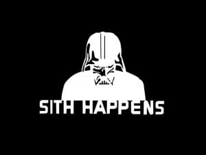 black and white, life, movie, quote, star wars