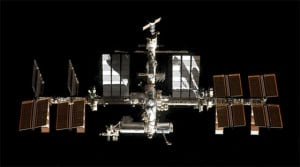 International Space Station as Seen by the Space Shuttle