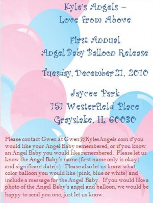 Kyle's Angels First Annual Angel Baby Balloon Release