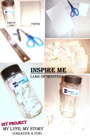DIY: Inspire Me (Jar of Quotes)