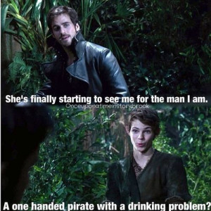 Peter pan and HOok the old companions