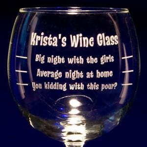 Funny Wine Glass Sayings Graduated balloon wine glass