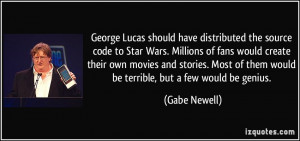 George Lucas should have distributed the source code to Star Wars ...