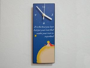 The-Little-Prince-Quotes-Le-Petit-Prince-Quotes-Rose-Wall-Clock