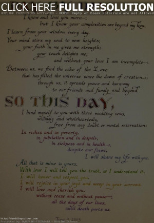 Examples Of Wedding Vows Wedding Ideas Sources