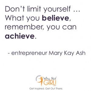 Mary Kay Ash Entrepreneurship Quote
