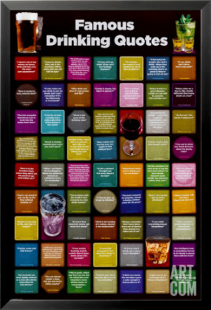 Famous Drinking Quotes Framed Poster