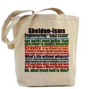 Sheldon Quotes Tote Bag | Gifts For A Geek | Geek T-Shirts