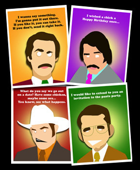 Birthday Cards - Stay Classy with 12 Ron Burgundy greeting cards ...