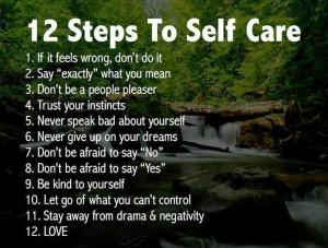 12 Steps to Self-Care Image
