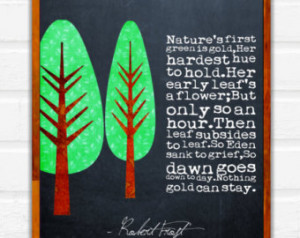 robert frost quote nature s f irst green is gold printable 8x10 quotes ...