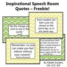Set of eight free inspirational quote posters for your speech room ...
