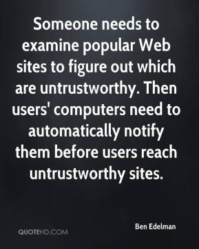 Untrustworthy Quotes