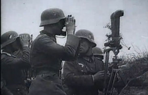 German artillery observers during the invasion of Poland, September ...
