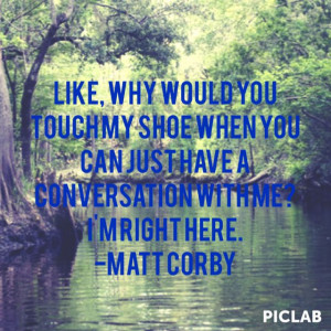 This is why he's awesome lol matt corby