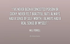 Conceited People Preview quote