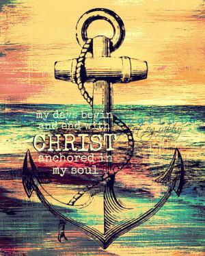 Anchor in Christ. Religious Faith Nautical Decor Choose Lustre Print ...
