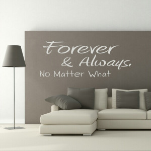Forever Quote wall sticker