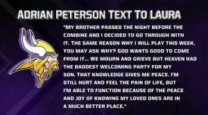 Adrian Peterson Explains Why He's Playing Today