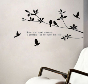 Branch Leave tree plant-Art Vinyl DIY wall sticker decal decor quote ...