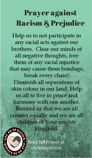 Prayer against Racism and Prejudice