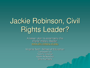 Jackie Robinson, Civil Rights Leader by jgd21090