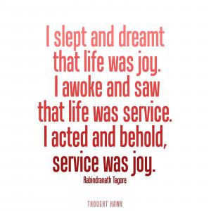 Service Was Joy