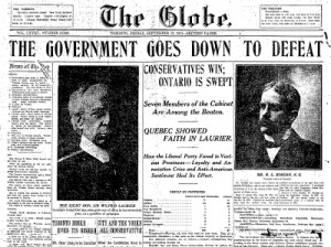 ... trade. Ontario was opposed, Quebec opposed Laurier on the naval issue