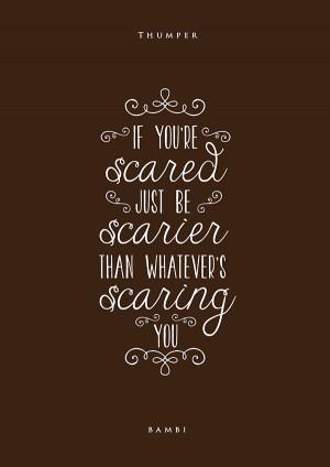 Typographic posters of inspiring Disney movie quotes