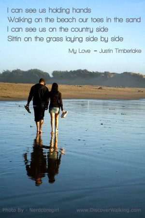 ... Walk on the beach with the one you love. #quote #beach http://www