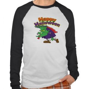 happy_halloween_funny_frankenstein_cartoon_t_shirt ...