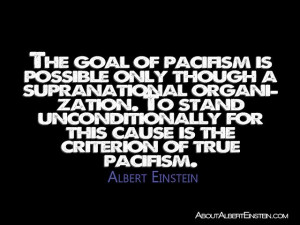 The goal of pacifism is possible only though a supranatural ...
