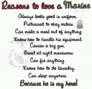 And he is an actual Marine! There's no pretending or just saying that ...