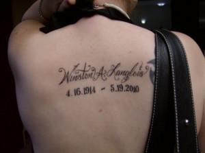 4th tattoo; May 2010My grandpas memorial tattoo.