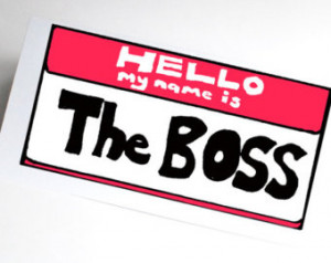 Congratulations card job promotion you're the boss funny illustration ...